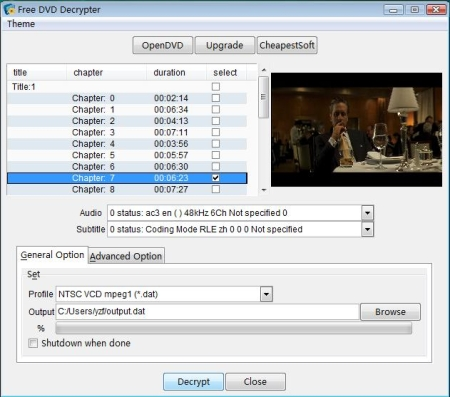 Free DVD Decrypter images