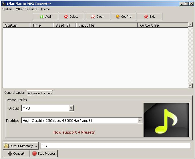 Windows 7 FLAC to MP3 Converter Express 2.0.1 full