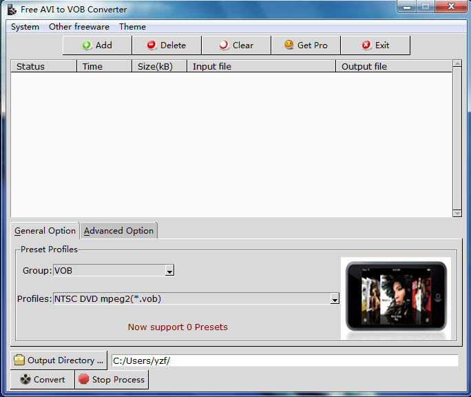 AVI to VOB Converter image