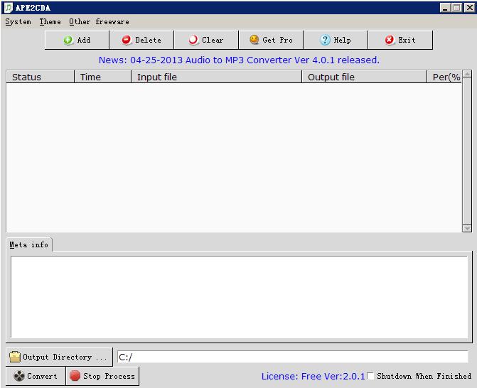 Click to view APE2CD screenshots