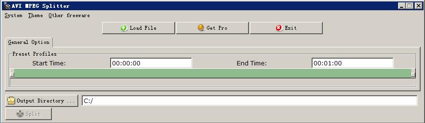 free AVI MPEG Splitter Freeware image