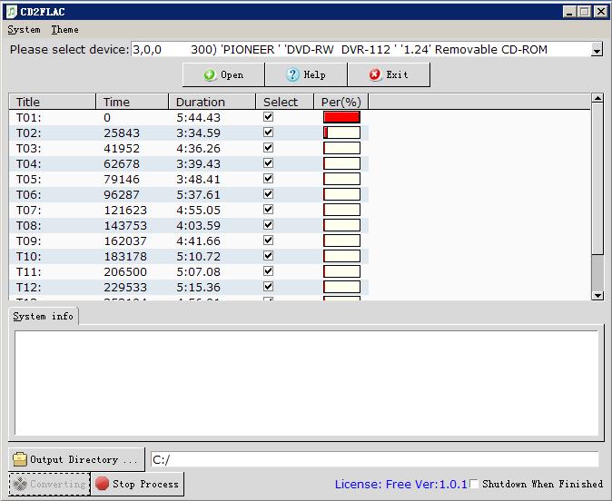 Click to view CD2FLAC screenshots