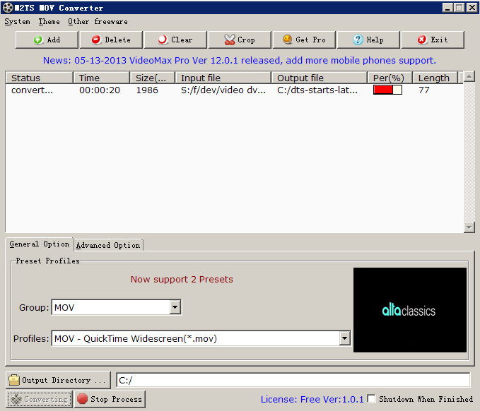 Click to view M2TS MOV Converter screenshots