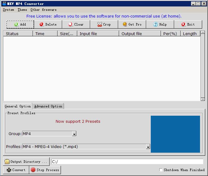 Windows 7 MKV MP4 Converter 3.0.1 full